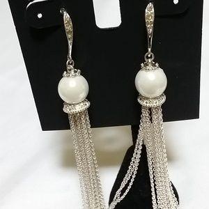 INC International Pearl Dangle Earrings